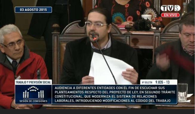 Leandro Cortez, presidente de la Federación de Trabajadores de Ripley y Secretario General de la Confederación de Trabajadores del Comercio Consfecove.