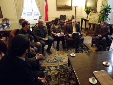 Audiencia con Presidente del Senado Patricio Walker