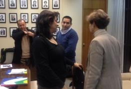 Senadora Allende y Claudia Muñoz, Aguas Andinas